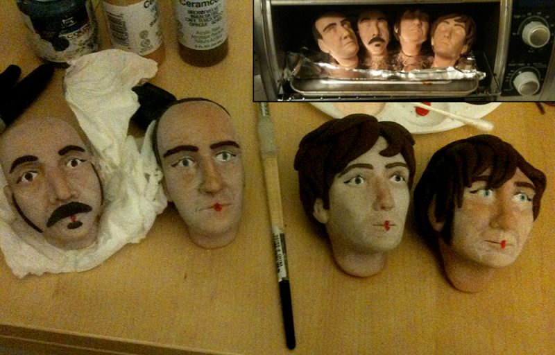 OK go puppet making of process shot